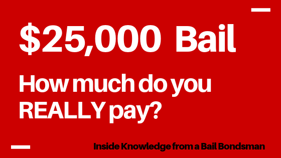 If Bail is $25,000 How Much Do I Pay?